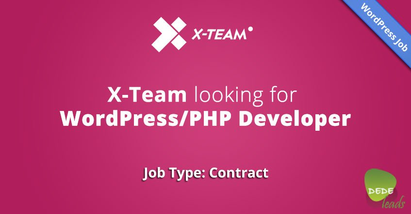X-Team looking for WordPress/PHP Developer