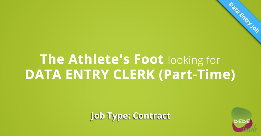 The Athlete's Foot looking for DATA ENTRY CLERK (Part-Time)