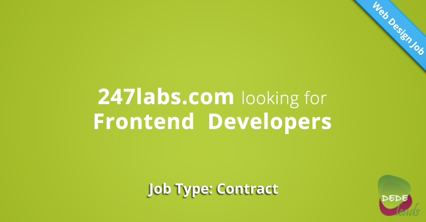 247labs.com looking for Frontend  Developers