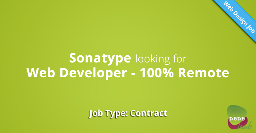 Sonatype looking for Web Developer - 100% Remote
