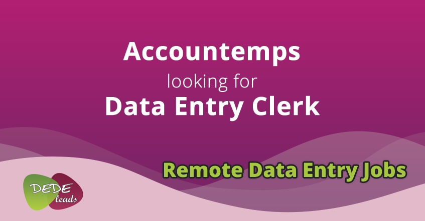 Accountemps looking for Data Entry Clerk