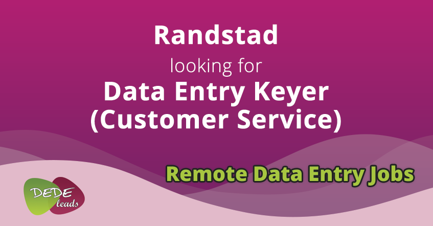 Randstad looking for Data Entry Keyer (Customer Service)