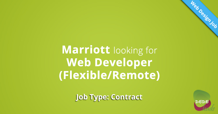 Marriott looking for Web Developer (Flexible/Remote)