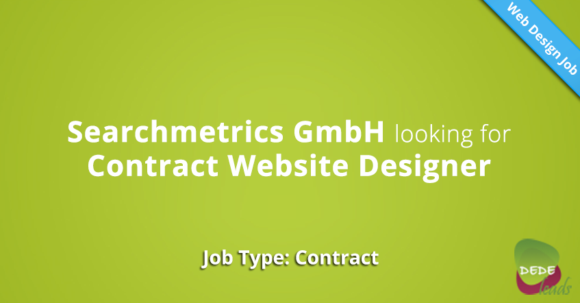 Searchmetrics GmbH looking for Contract Website Designer