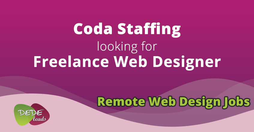 Coda Staffing looking for Freelance Web Designer